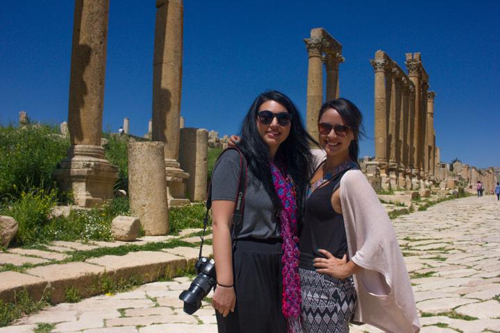 Roman ruins in Jerash, Jordan