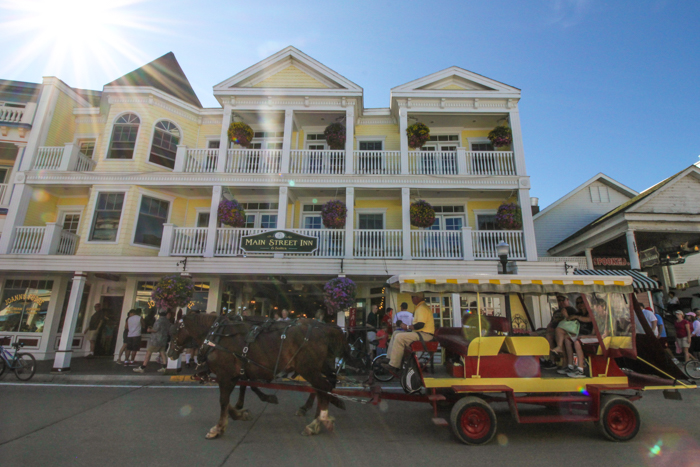 A Horse-drawn Carriage on Mackinac Island