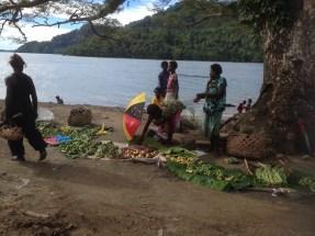 roadside market on Bougainville