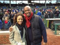 On the field with Mr Payton!