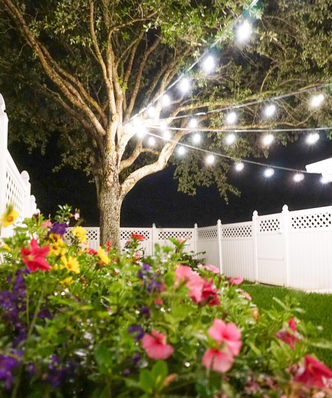 How to Hang String Lights DIY - Ashley Brooke Designs on Backyard String Lights Diy id=86768