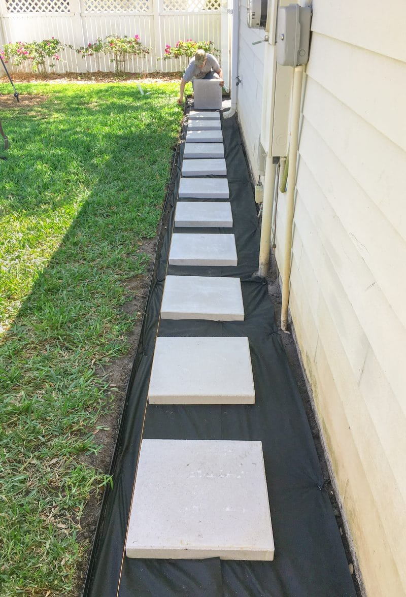 Building the Paver Patio - Ashley Brooke Designs on Side Yard Walkway Ideas  id=38827