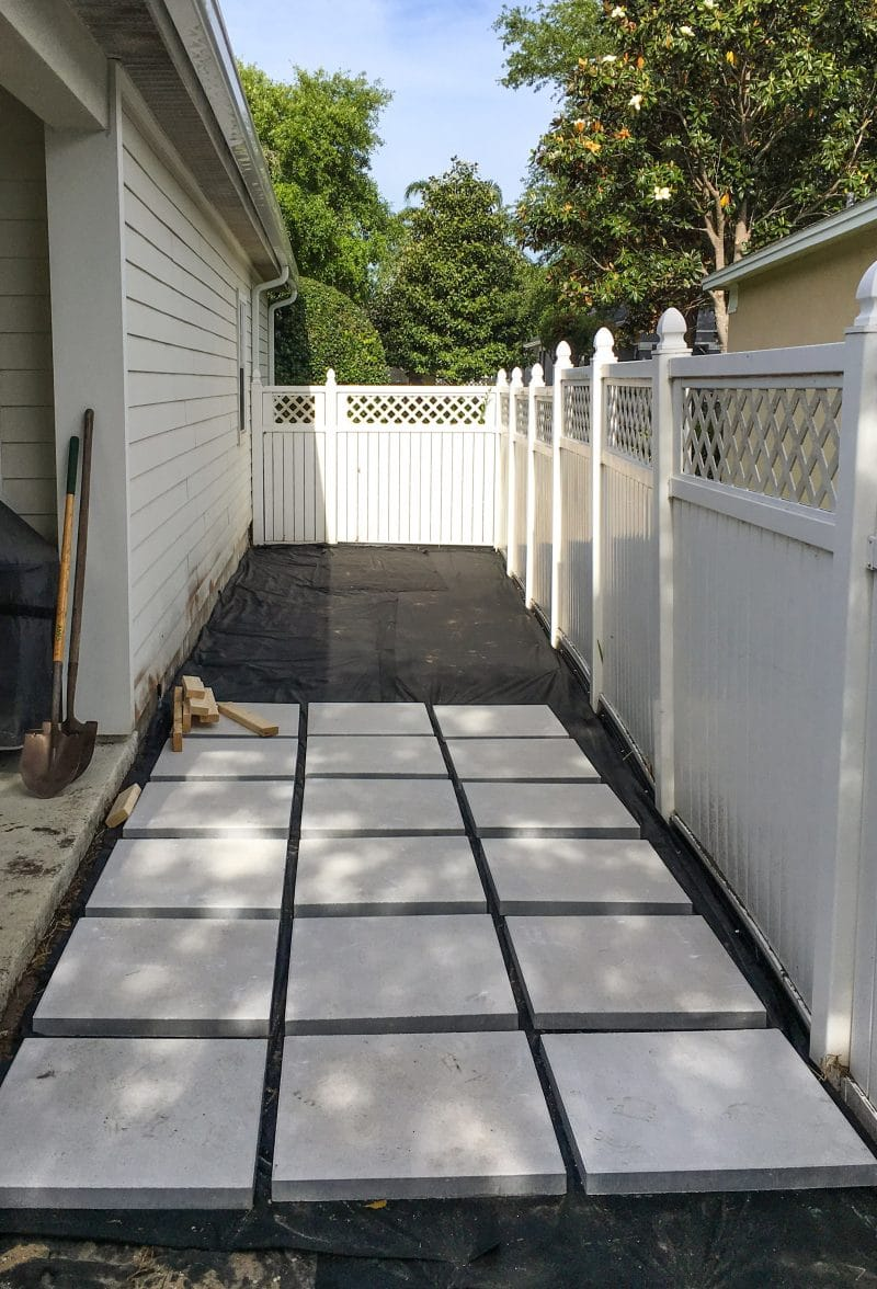 Building the Paver Patio - Ashley Brooke Designs on Stepping Stone Patio Ideas  id=78564