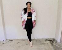 Ursula Print Big Pocket Neoprene Kimono Retails for $290