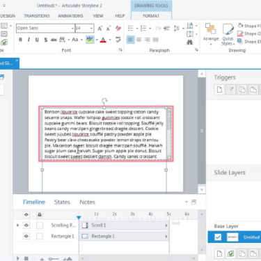 Automatic Scrolling Effect in Articulate Storyline