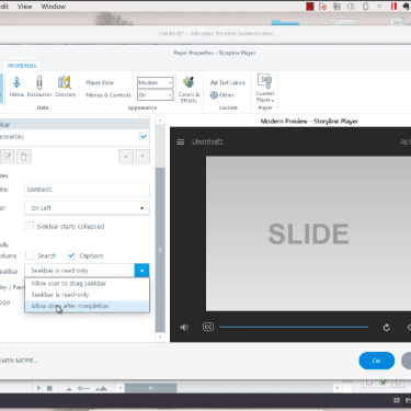 Using the Conditional Seekbar in Articulate Storyline 360