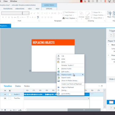 Replacing Objects in Articulate Storyline 360