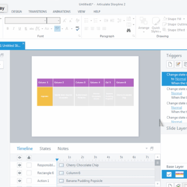 Interactive Tables in Articulate Storyline