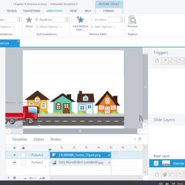 Quick Use of Motion Paths in Articulate Storyline