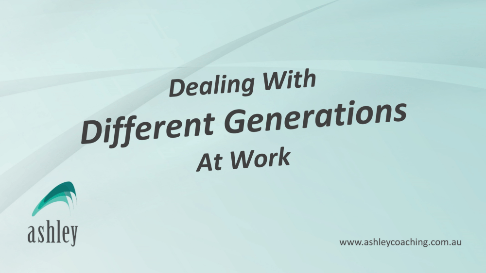 Dealing With Different Generations At Work