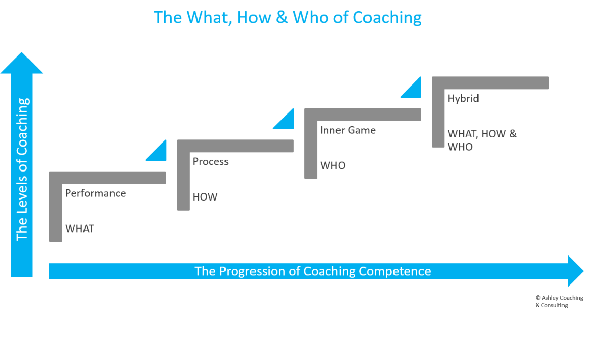 The What, How & Who of Coaching Diagram