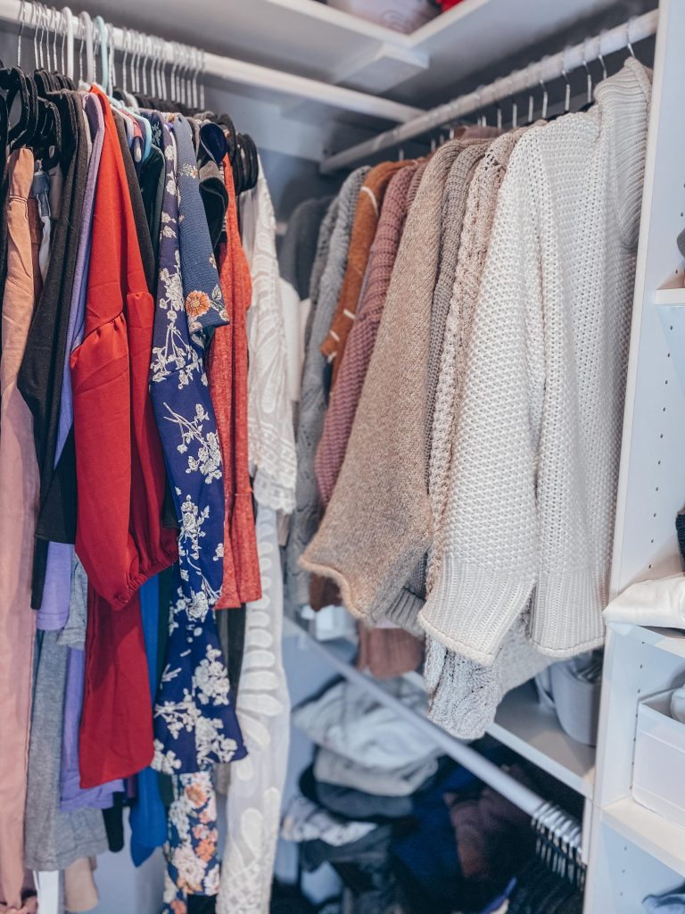 dresses and sweaters organized by style