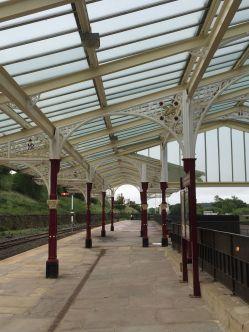 Platform at Hellifield Station