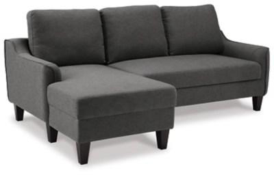jarreau sofa chaise sleeper gray