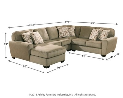 patola park 4 piece sectional with chaise large