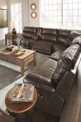 dak 6 piece reclining sectional with power
