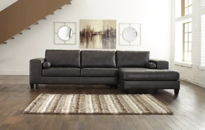 Nokomis 2 Piece Sectional With Chaise Ashley Furniture