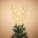 Christmas 14 5 Led Deer Head Tree Topper Ashley Furniture Homestore