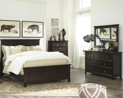 Bedroom Sets   Perfect for Just Moving In   Ashley Furniture HomeStore     large Alexee 5 Piece Queen Bedroom  Dark Brown  rollover
