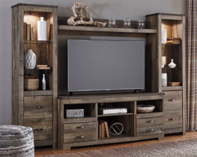 trinell 4 piece entertainment center large