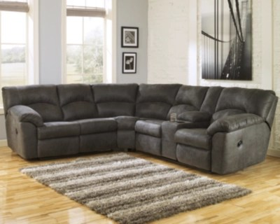 large tambo 2 piece reclining sectional rollover