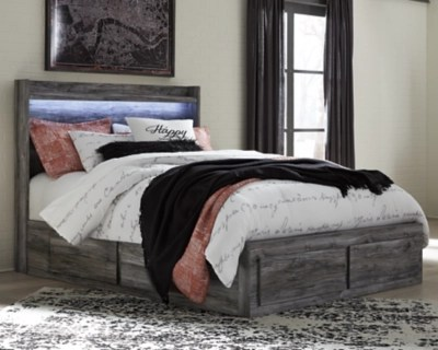 Baystorm Queen Panel Bed With 6 Storage Drawers Ashley Furniture Homestore