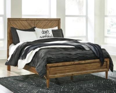 broshtan queen panel bed light brown large