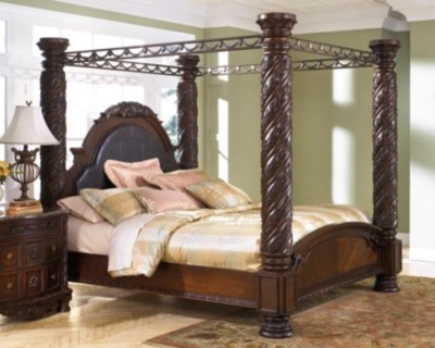 north shore king poster bed with canopy dark brown large