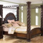 North Shore King Poster Bed With Canopy Ashley Furniture Homestore
