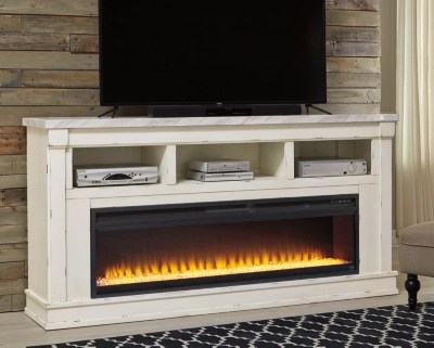 Becklyn 74 Quot Tv Stand With Electric Fireplace Ashley