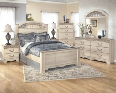 catalina queen poster bed ashley