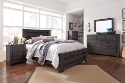 Brinxton Queen Panel Bed With Dresser Mirror And Nightstand Ashley Furniture Homestore