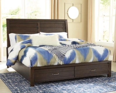 Darbry Queen Panel Bed With 2 Storage Drawers Ashley Furniture Homestore