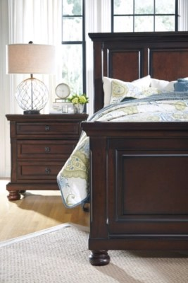 Don't want to break the bank on bedside tables? porter nightstand ashley furniture