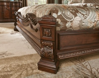 Ledelle Queen Sleigh Bed Ashley Furniture Homestore