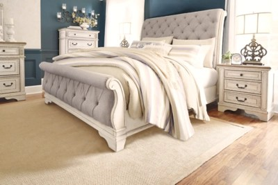 Realyn Queen Sleigh Bed Ashley Furniture Homestore