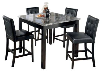 Maysville Counter Height Dining Table And Bar Stools Set Of 5 Ashley Furniture Homestore