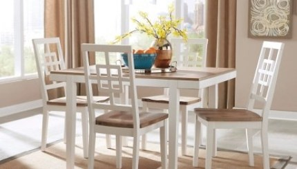 Brovada Dining Table And Chairs Set Of 5 Ashley Furniture Homestore