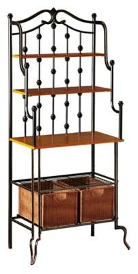iron bakers rack