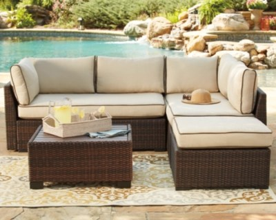 Loughran 4 Piece Outdoor Sectional Set Ashley HomeStore