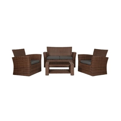 4 piece outdoor patio sofa set with cushions