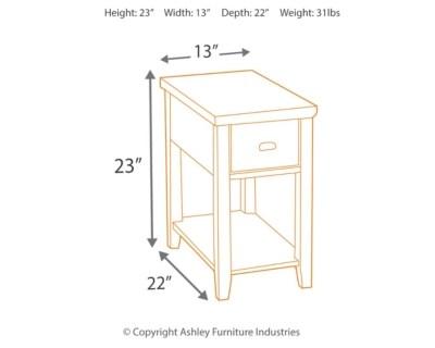Breegin Chairside End Table Ashley Furniture Homestore