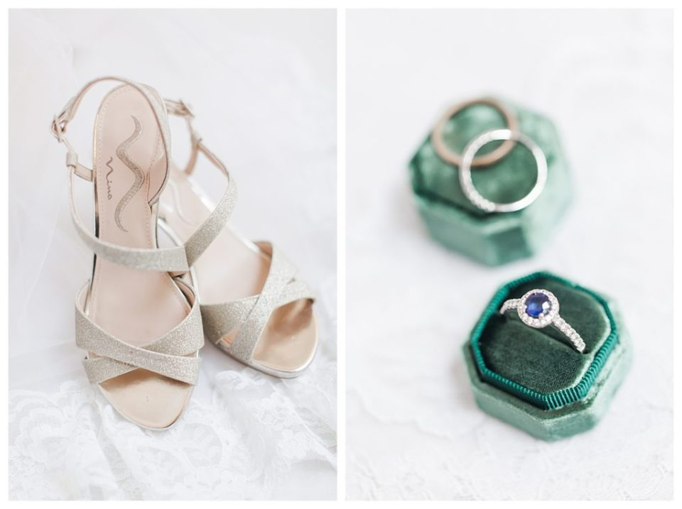 green bridal details