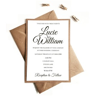 Rustic Ivory Invitation