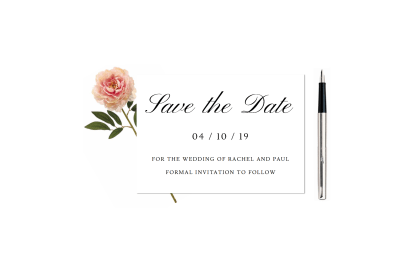 Traditional Formal Save the Date