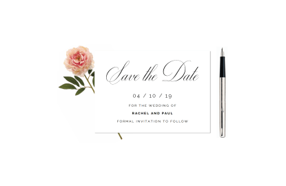 Traditional Save the Date
