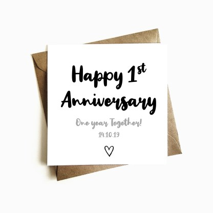 Personalised 1st Anniversary Card