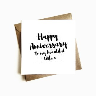 Beautiful Wife Anniversary Card