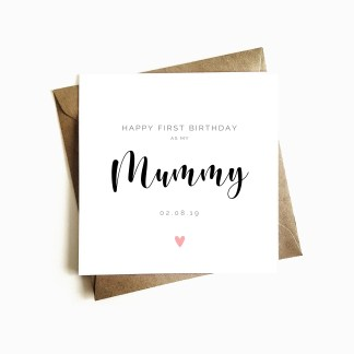 First birthday as my mummy card
