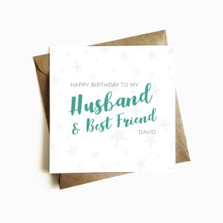 Husband and Best Friend Birthday Card